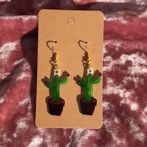 Cactus Handmade Earrings 🌵